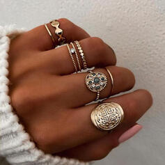 Unique Exquisite Stylish Alloy Jewelry Sets Rings (Set of 6 pairs)