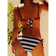 Stripe Push Up Strap Sexy Beautiful Bikinis Swimsuits