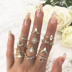 Exotic Alloy Rings (Set of 12 pairs)