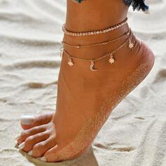 Hottest Alloy With Star Moon Anklets (Set of 3)