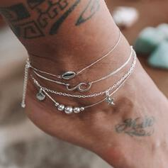 Starfish Hottest Shell Shaped Alloy Beach Jewelry Anklets (Set of 4)