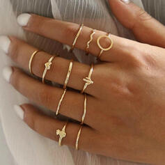 Charming Alloy With Heart Fruit Rings (set of 11)