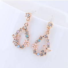 Beautiful Alloy Rhinestones With Rhinestone Women's Earrings (Set of 2)