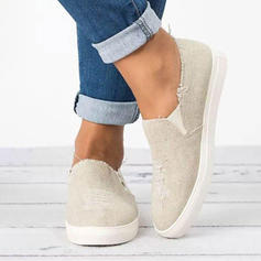 Women's Denim Flat Heel Flats Closed Toe With Others shoes