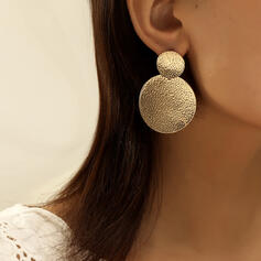 Elegant Round Alloy Earrings (Set of 2)