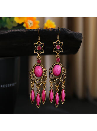 Colourful Boho Alloy Rhinestones Women's Earrings
