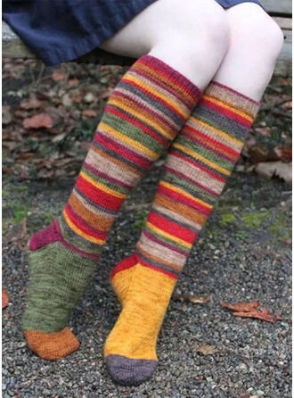 Striped/Bohemia/Colorful Comfortable/Women's/Christmas/Calf Socks/Adult Socks/Stockings