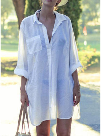 Solid Color Fashionable Cover-ups Swimsuits