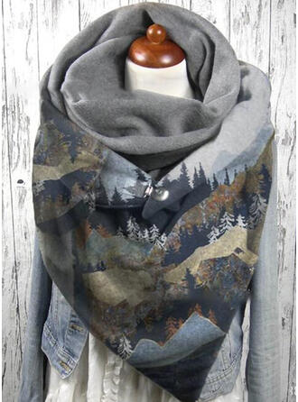 Retro/Vintage/Graphic Prints fashion/Colorful Scarf