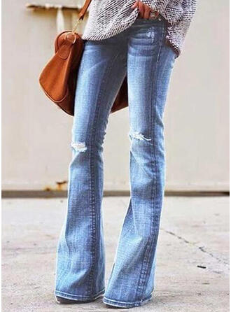 Ripped Long Casual Long Denim Pants