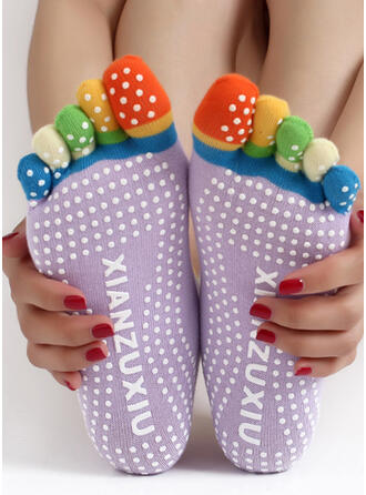 Polka Dots Comfortable/Women's/Crew Socks/Non Slip/Toe Socks